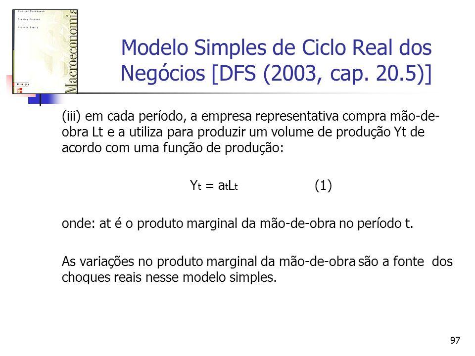 Modelo Simples de Ciclo Real dos Negócios [DFS (2003, cap. 20.5)]
